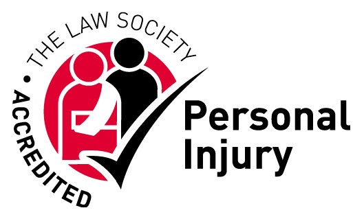 black and red Logo law society personal injury accredited expert